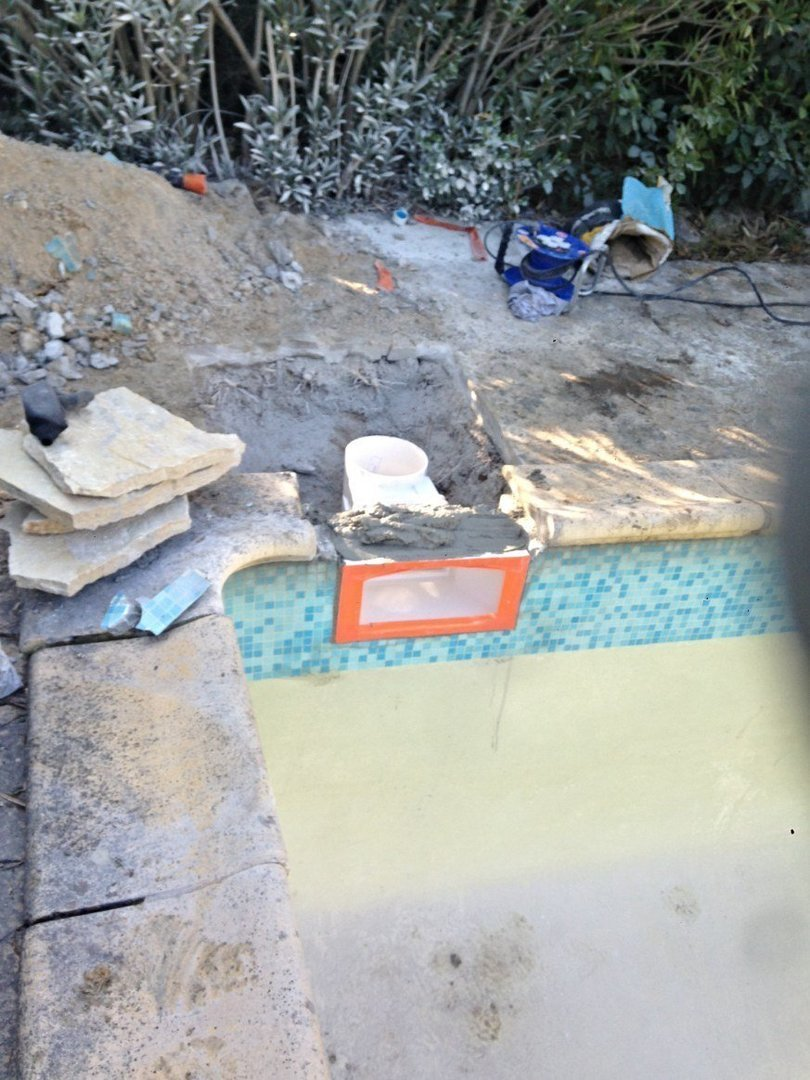 Intervention piscine en béton à Allauch