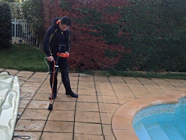 Détection de fuite piscine en coque à Mimet