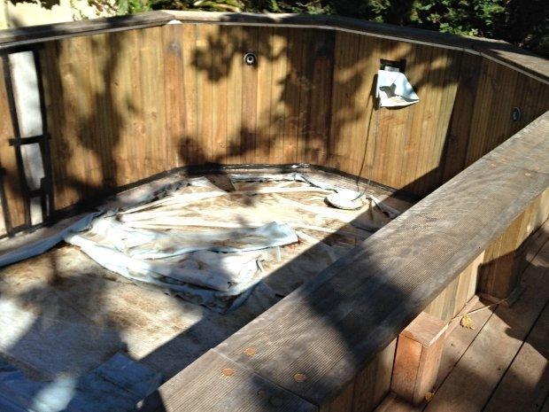 Changement liner - piscine octogonale